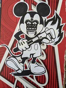 Thayen Rich aka Corrosive 8, signed paper collage on cardboard size 20cm X 29cm.