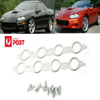 LS Manifold Exhaust Gaskets +Bolts For GM LS1/LS2/LS3/LS6 Multi-Layer Steel
