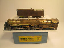 MAX GRAY - KATSUMI BRASS D&RGW 4-6-6-4 STEAM LOCOMOTIVE & TENDER - UNPAINTED