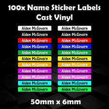 100x Personalised Name Sticker Labels / Stationary / Children / Vinyl