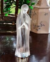Lalique France Crystal Madonna Virgin Mary Figurine Mint Signed Authentic 10""