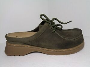 BASS 4009/Nicolette Womens Leather Suede Lace Up Mules US Size 9M