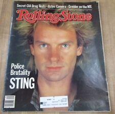 Rolling Stone Magazine # 403 Sept 83 Sting CIA Drug Tests Aztec Camera