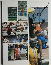 AUTOGRAPHED COLOR COLLAGE PHOTOS>AMERICAN OLYMPIC STAR >>BRUCE JENNER