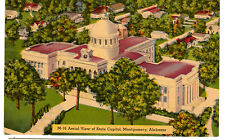 1930's postcard- Aerial View of State Capitol, Montgomery, Alabama