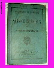 SERVICE INTERIEUR GENDARMERIE DEPARTEMENTALE 1897