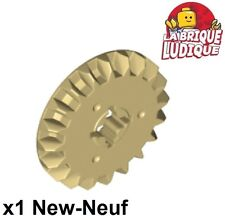 Lego technic - 1x engrenage pignon gear 20 tooth bevel beige/tan 32198 NEUF