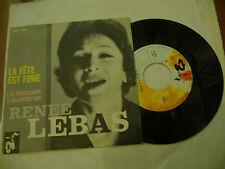 "RENEE LEBAS""LA FETE EST FINIE-disco 45 giri BARCLAY Italy 1963""  RARISSIMO"