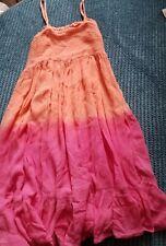 6-7 años De Niña De Verano Vestido Vacaciones Rosa anaranjado