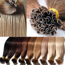 100% Remy Human Hair Extensions 100 Strands Pre Bonded Nail U Keratin Tip 100G