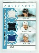 12-13 UD Artifacts Tundra Trios  Eric Staal--J Staal--Marc Staal  Jerseys