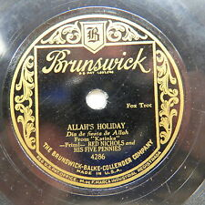Red Nichols & Five Pennies - BRUNSWICK 4286 - Allah's Holiday & Roses of Picardy