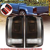 Pair For VW Volkswagen Amarok 2010-2018 Smoked Black Rear Tail Brake Light Lamps