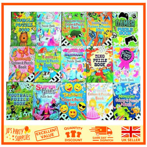 Party Bag Fillers Puzzle Books Childrens Kids Girls Boys A6 Colouring Activity