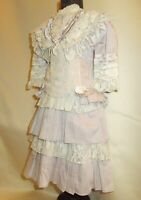 Cotton dress for antique dolls 50-65 cm (20-25 inches).Length 45 cm (18 inches)