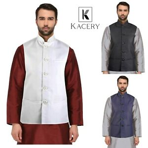 Men's Nehru Indian  Modi Jacket  Pakistani  Asian Waistcoat MJ710