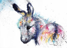 Donkey,Sale,Original ,Watercolour ,Print ,Card, Gift, Wildlife,Animal,Art, wall