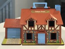 Vintage FISHER PRICE Original Little People Tudor House Toy #952 and Accessories