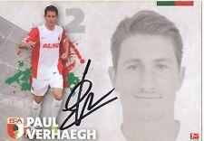 Paul Verhaegh FC Augsburg Autogrammkarte original signiert 324259
