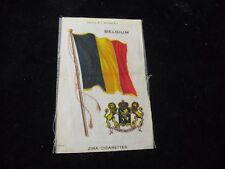 """Zira Cigarettes Belgium Belgian Flag w/ Crest Tobacco Card Silk 3-1/4"""" X 5"""""""