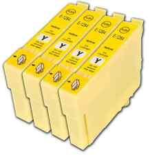 4 Yellow T1284 non-OEM Ink Cartridge For Epson Stylus S22 SX125 SX130 SX230