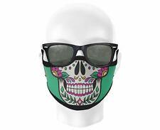 colorful FACE MASK Cover Mardi Gras Art sugar Skull Triple Layer Fashion CHARITY