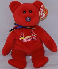 Ty Beanie Baby Mlb St. Louis Cardinals Sit up Style Bear 8""