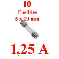0,630 A Qualité Retarde 10 Fusibles Verre 5 X 20 mm Puissance 630 MILLI Ampere