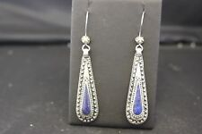Afghan Drop Dangle Earring with Stone Authentic Ethnic