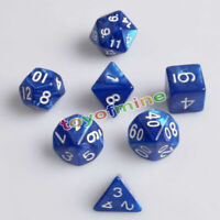 Azul de 7 lados de Dados Magic-the-Gathering MTG D & D RPG Poly Juego