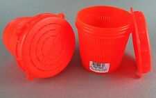 TWO Scotty RED 1/2 Litre Vented Bait Jars Twist-On Lid for Crab Bait Jar #672