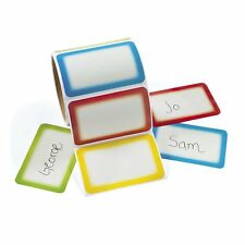 200 4 Color Name Tags Stickers Personalized ADHESIVE Labels Party Wedding School