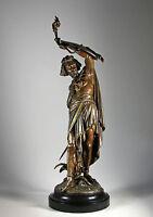 13kg große Prometheus Skulptur um 1880 signiert Griechische Antike Mythologie