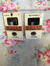 2 Vintage Packets Halls Betweens Needles