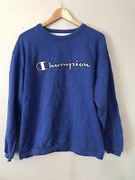 Champion Mens Blue Cotton Vintage Crew Neck Sweatshirt Size L