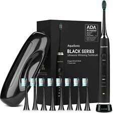 AquaSonic Black Series Ultra Whitening Toothbrush – ADA Accepted Rechargeable To