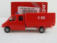 """Herpa 044745 Mercedes-Benz Sprinter DoKa P/P (2000) """"FEUERWEHR"""" 1:87/H0 NEU/OVP"""