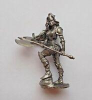 1/32 Fantasy Barbarian Girl Savage Female Warrior Tin Metal Soldier 54mm Figure
