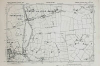 East Yorkshire Map - Ordnance Survey Emergency Ed. 1938 - Tickton & Hull Bridge