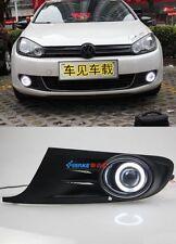 2x LED For Volkswagen Golf 6 2008-13 Daytime Fog Lights Projector angel eye kit