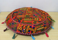 """32"""" Round Floor Cushion Cover Indian Pillow Decor Bohemian Patchwork Seating"""