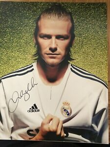 Hand Signed David Beckham With Certificate