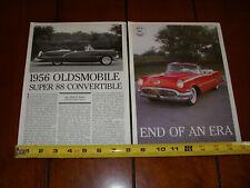 1956 OLDSMOBILE SUPER 88 CONVERTIBLE ORIGINAL 1995 ARTICLE