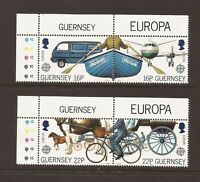 1988 Guernsey, Europa, Transport, NH Mint Set of Stamps, SG 420-3