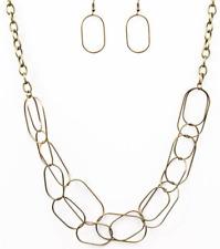 Retrograde - Brass Paparazzi Necklace -