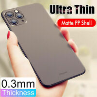 For iPhone 11 Pro XS Max XR 7 8 Ultra-thin Slim Matte Clear Hard Back Case Cover