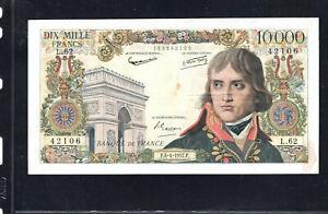 Billet 10000 Francs Bonaparte 04/04/57 TTB+ Fay 51-07