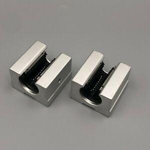 2pcs SBR16UU 16mm Open Linear Motion Ball Bearing Slide Block Unit XYZ CNC Parts