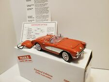 Danbury Mint 1956 Corvette Convertible Limited Edition box and title