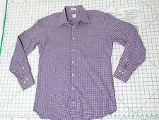 PETER MILLAR Long Sleeve Button Down Shirt - Men's Size M - Purple Plaid Casual